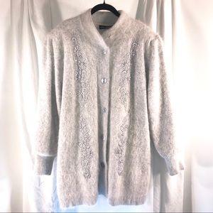 Lee Sands Angora Sweater, size 20W